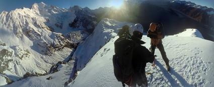 Alpine mountaineering course around Ball Pass, New Zealand