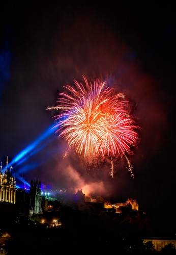 Edinburgh International Festival closing fireworks