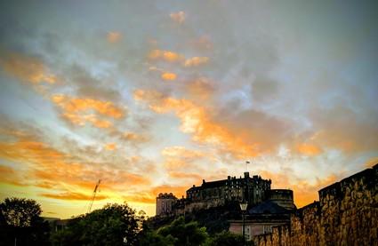 A sunset mid Edinburgh festival